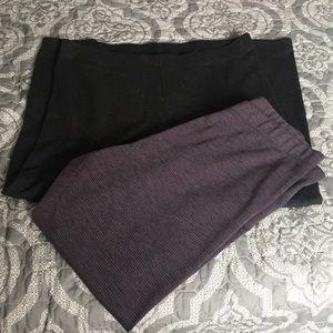 Two LOFT leggings size XL